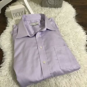 Joseph Abboud regular fit light purple shirt
